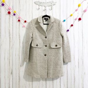 H&M wool blend textured swing coat size 14